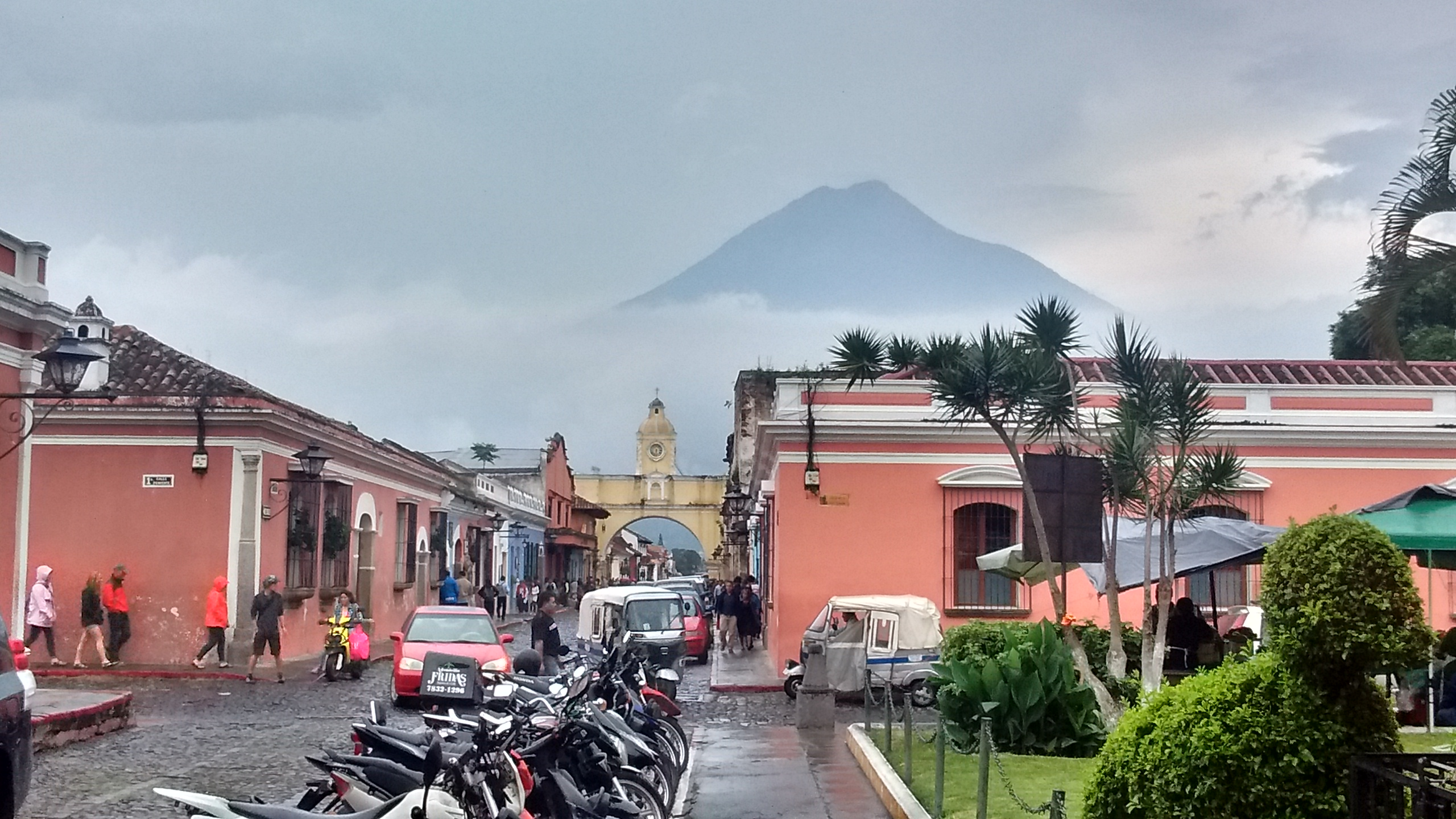 Antigua, Guatemala, where the team spent the last two nights of the trip.